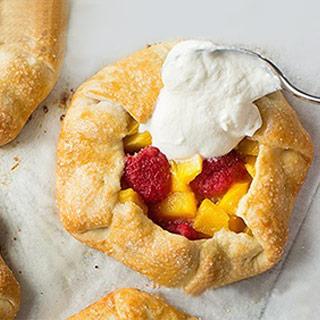 Mini galette met mango frambozen
