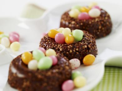 Krokante chocoladenestjes