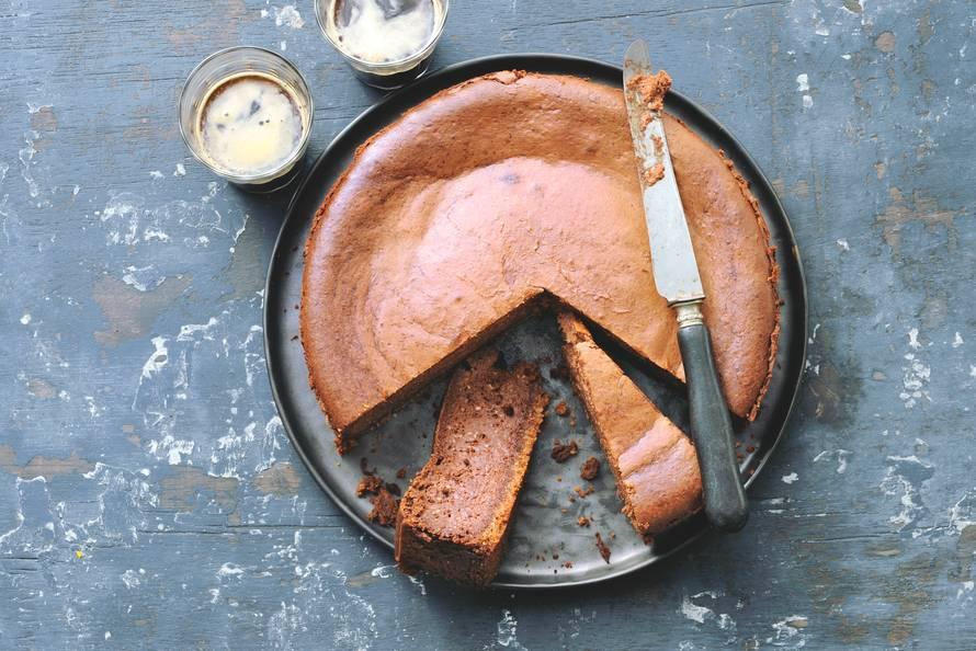Chocolade-cheesecake met banaan